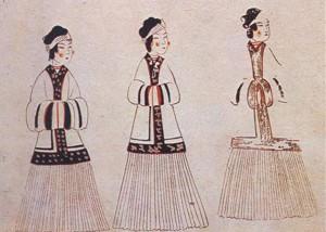 〈도 3〉 수산리 벽화무덤 여인도(모사도)