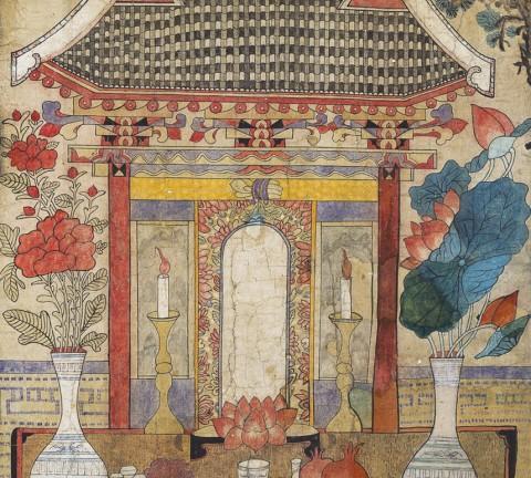 도1-1. 지본채색, 80x122㎝, 가회민화박물관 소장